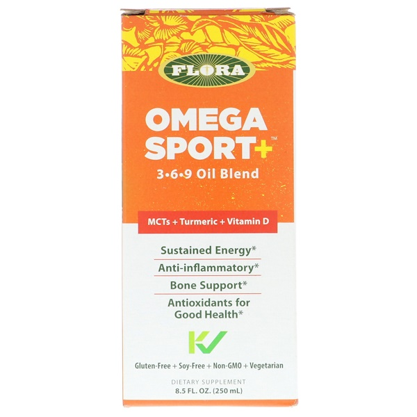 Flora, Omega Sport +, 3-6-9 Oil Blend, 8.5 fl oz (250 ml)
