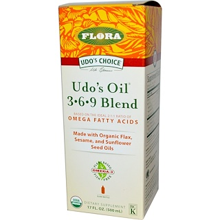 Flora, Udo's Choice, Udo's Oil 3•6•9 Blend, 17 fl oz (500 ml)