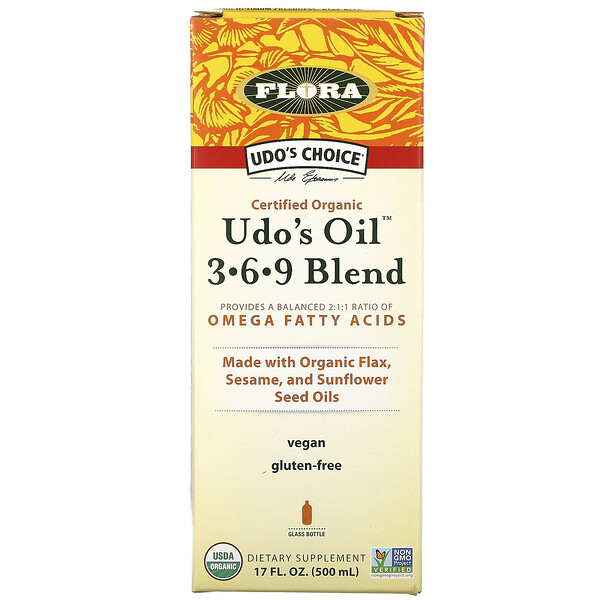 Udo's Oil 3-6-9 Blend, 17 fl oz (500 ml)