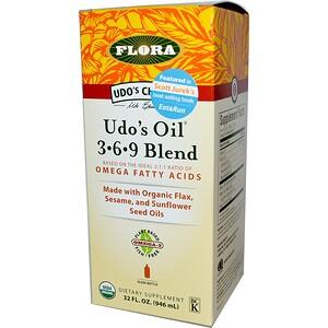 Флора, Udo's Choice, Udo's Oil 3-6-9 Blend, 32 fl oz (946 ml) отзывы покупателей