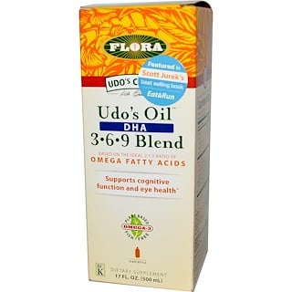Flora, Udo's Choice, Udo's Oil DHA 3·6·9 Blend, 17 fl oz (500 ml)