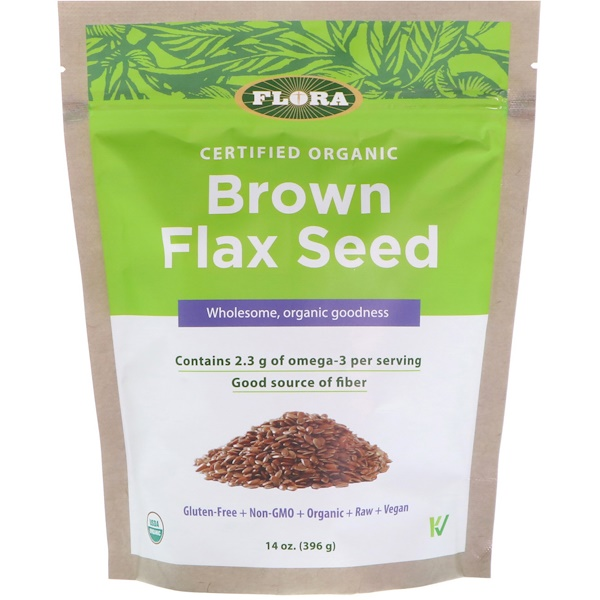 Flora, Certified Organic, Brown Flax Seed, 14 oz (396 g) (Discontinued Item)