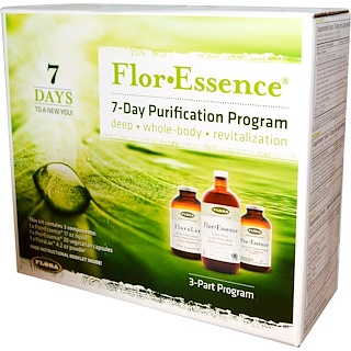 Flora, Flor·Essence, 7-Day Purification Program, 3-Part Program
