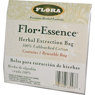 Flora, Flor·Essence, Herb Extraction Bag, 1 Bag