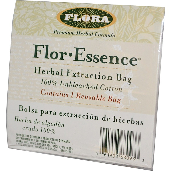 Flora, Flor·Essence, Herb Extraction Bag, 1 Bag (Discontinued Item)