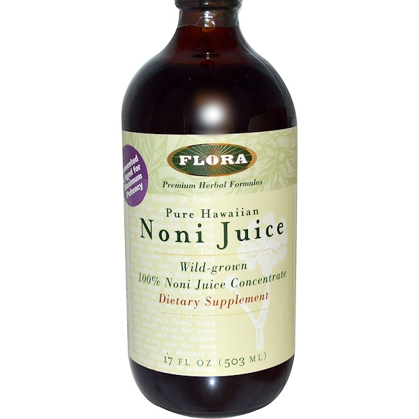 Flora, Pure Hawaiian Noni Juice, 17 fl oz (503 ml) (Discontinued Item)