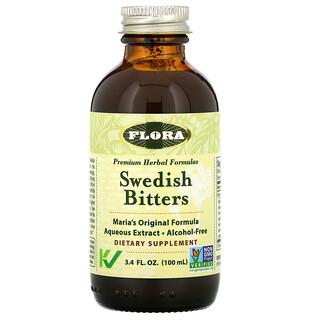 Flora, Swedish Bitters, Alcohol-Free, 3.4 fl oz (100 ml)