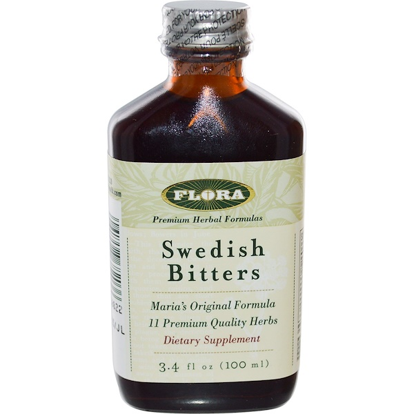 Flora, Swedish Bitters, 3.4 fl oz (100 ml)