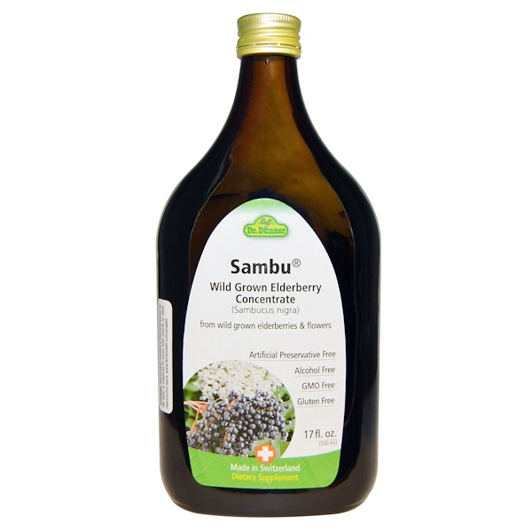 Flora, Dr. Dunner, Sambu, Wild Grown Elderberry Concentrate, 17 fl oz (500 ml) (Discontinued Item)