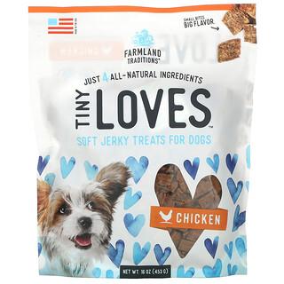 Farmland Traditions, Tiny Loves, Soft Jerky Treats For Dogs, Chicken, 16 oz (453 g)