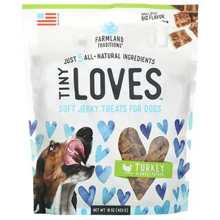 Farmland Traditions, Tiny Loves, Soft Jerky Treats For Dogs, Turkey & Sweet Potato, 16 oz (453 g)