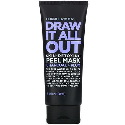 Купить Formula 10.0.6 Draw It All Out, Skin-Detoxing Peel Mask, Charcoal + Plum, 3.4 fl oz (100 ml)