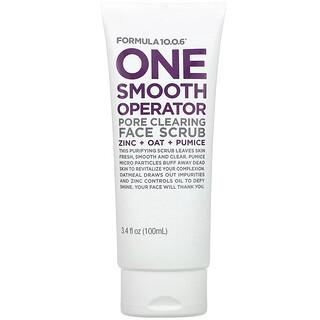 Formula 10.0.6, One Smooth Operator, Pore Clearing Face Scrub, 3.4 fl oz (100 ml)