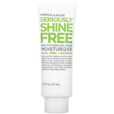 Купить Formula 10.0.6 Seriously Shine Free, Mattifying Oil-Free Moisturizer, 2.54 fl oz (75 ml)