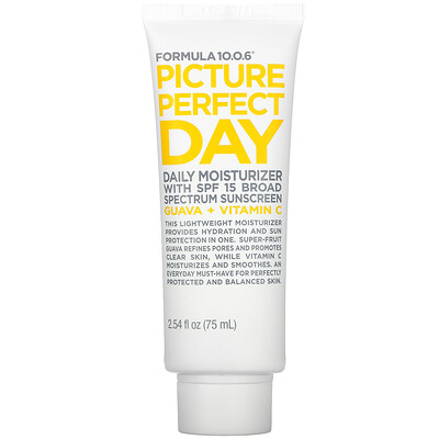Formula 10.0.6 Picture Perfect Day, Daily Moisturizer with SPF 15 Broad Spectrum Sunscreen, 2.54 fl oz (75 ml)