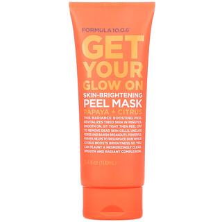 Formula 10.0.6, Get Your Glow On, Skin-Brightening Peel Beauty Mask, Papaya + Citrus, 3.4 fl oz (100 ml)