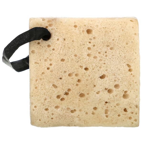 Exfoliating Soap-Infused Sponge, Coffee, 1 Sponge, 2.65 oz (75 g)
