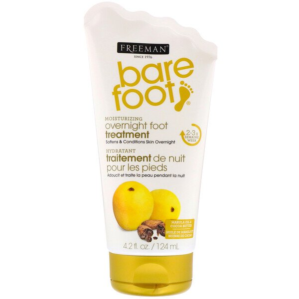 Freeman Beauty, Bare Foot, Moisturizing, Overnight Foot Treatment, Marula Oil & Cocoa Butter, 4.2 fl oz (124 ml)