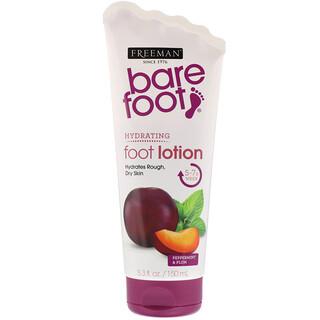 Freeman Beauty, Bare Foot, Hydrating, Foot Lotion, Peppermint & Plum, 5.3 fl oz (150 ml)