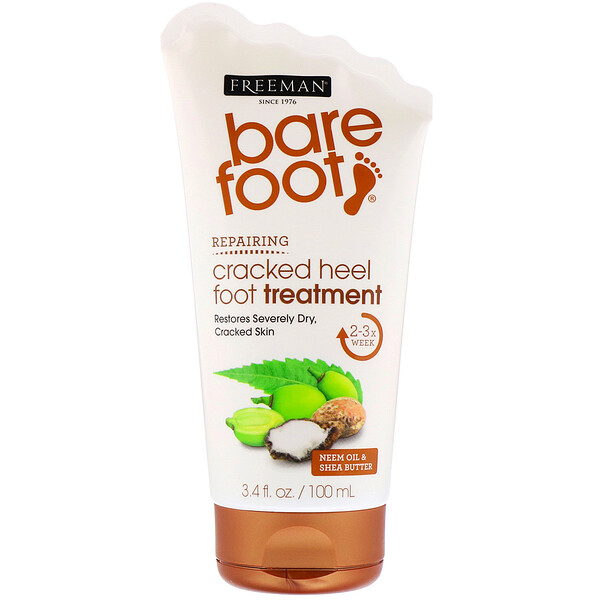 Bare Foot, Repairing, Cracked Heel Foot Treatment, Neem Oil & Shea Butter, 3.4 fl oz (100 ml)