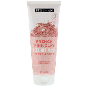 Freeman Beauty, French Pink Clay Peel-Off Mask, 6 fl oz (175 ml) отзывы