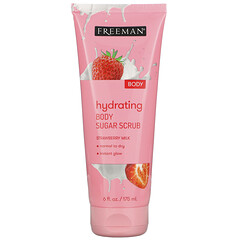 Freeman Beauty, 保濕身體磨砂糖,草莓牛奶,6 液量盎司(175 毫升)