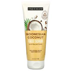 Freeman Beauty, 去角質磨砂膏,印尼椰子,6 液量盎司(175 毫升)