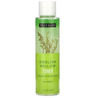 Freeman Beauty, English Willow Toner, Pore Minimizer, Deep Cleansing, 6.1 fl oz (180 ml)