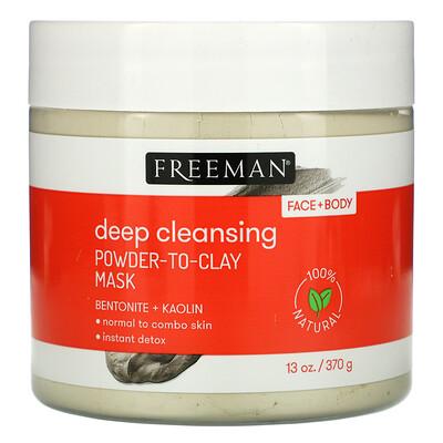 Freeman Beauty Deep Cleansing Powder-To-Clay Mask, 13 oz (370 g)  - купить со скидкой