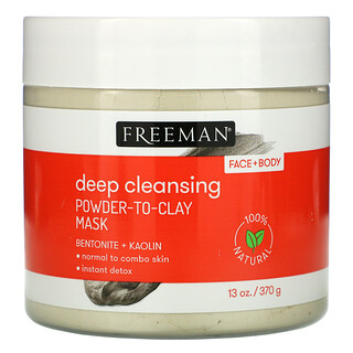 Freeman Beauty, Deep Cleansing Powder-To-Clay Beauty Mask, 13 oz (370 g)