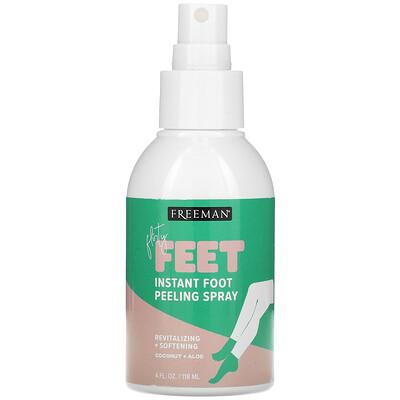 Купить Freeman Beauty Flirty Feet, Instant Foot Peeling Spray, Coconut + Aloe, 4 fl oz (118 ml)