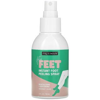 Freeman Beauty, Flirty Feet, Instant Foot Peeling Spray, Coconut + Aloe, 4 fl oz (118 ml)