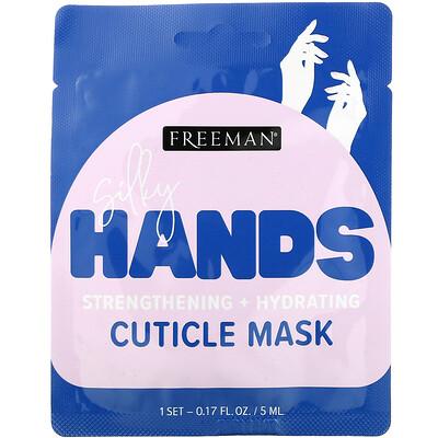 Freeman Beauty Silky Hands, Cuticle Mask, 1 Pair, 0.17 fl oz (5 ml)