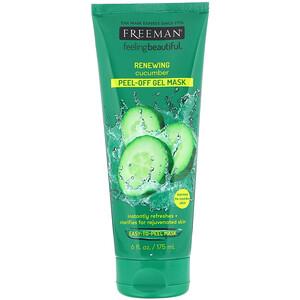 Freeman Beauty, Feeling Beautiful, Renewing Peel-Off Gel Mask, Cucumber, 6 fl oz (175 ml) отзывы покупателей