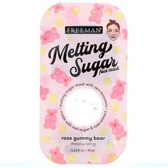 Freeman Beauty, Melting Sugar Face Mask, Moisturizing, Rose Gummy Bear, 0.33 fl oz (10 ml)