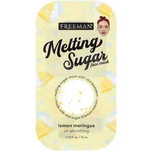 Freeman Beauty, Melting Sugar Face Mask, Oil Absorbing, Lemon Meringue, 0.33 fl oz (10 ml) отзывы