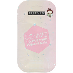 Freeman Beauty, Cosmic Holographic Peel-Off Mask, Luminizing Rose Quartz, 0.33 fl oz (10 ml)