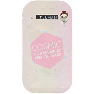 Freeman Beauty, コスミックホログラフィック・フェイスマスク、ルミナイジングローズクォーツ、0.33 fl oz (10 ml)