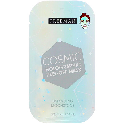 Купить Freeman Beauty Cosmic, Holographic Peel-Off Mask, Balancing Moonstone, 0.33 fl oz (10 ml)
