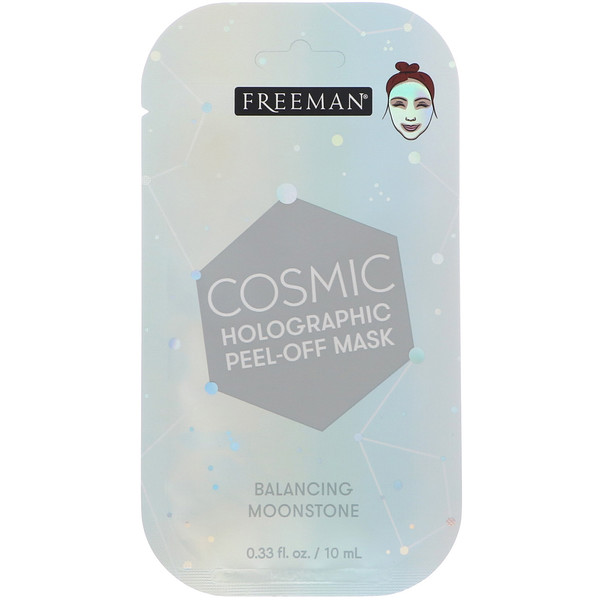 Freeman Beauty, Cosmic, Holographic Peel-Off Mask, Balancing Moonstone, 0.33 fl oz (10 ml)
