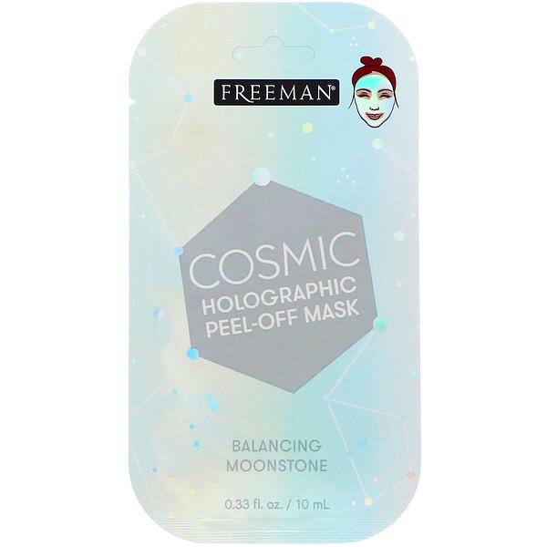 Freeman Beauty, Cosmic Holographic Peel-Off Mask, Balancing Moonstone, 0.33 fl oz (10 ml)