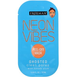 Freeman, Neon Vibes, Ghosted, Clean Pores Peel-Off Mask, 0.33 fl oz (10 ml)