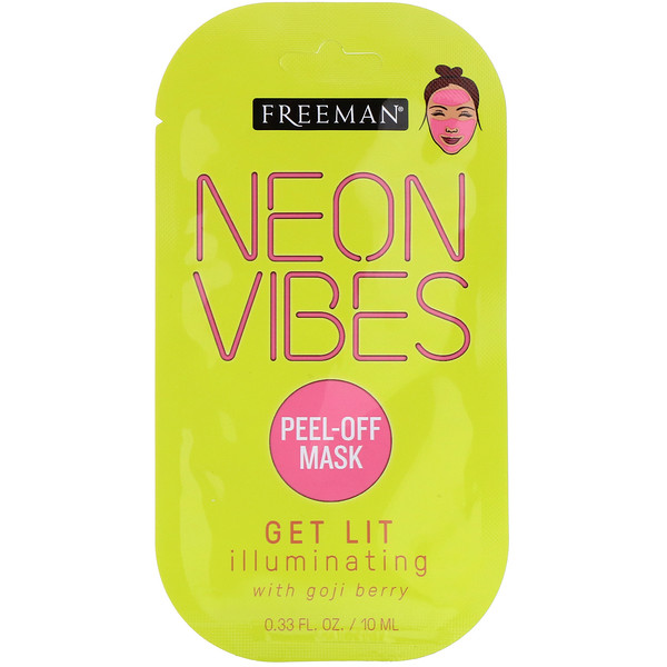 Neon Vibes, Get Lit, Illuminating Peel-Off Mask, 0.33 fl oz (10 ml)