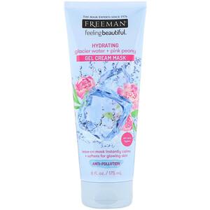 Freeman Beauty, Feeling Beautiful, Hydrating Gel Cream Mask, Glacier Water + Pink Peony, 6 fl oz (175 ml) отзывы