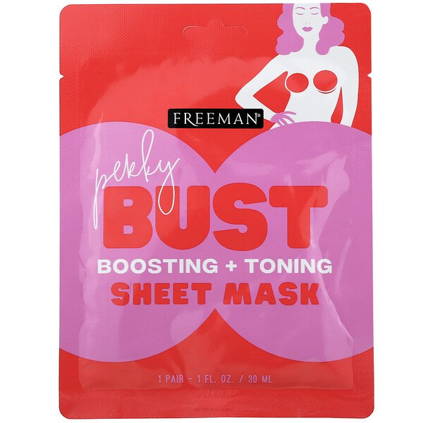 Perky Bust Sheet Mask, Boosting + Toning, 1 Pair, 1 fl oz (30 ml)