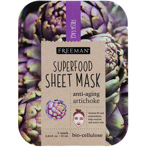 Freeman Beauty, Superfood Sheet Mask, Anti-Aging Artichoke, 1 Mask, 0.84 fl oz (25 ml) отзывы