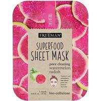 Тканевая маска с суперфудами, арбуз и редька для очищения пор, 1 маска - фото