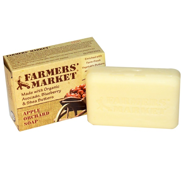 Farmers' Market Soaps, Apple Orchard Soap, 5.5 oz (155 g) (Discontinued Item)