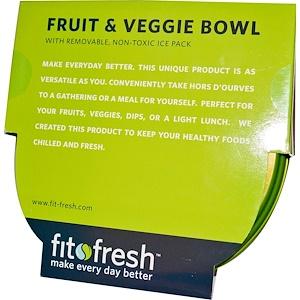 Фит и Фрэш, Fruit & Veggie Bowl with Removable Ice Pack, 5 Piece Bowl отзывы покупателей