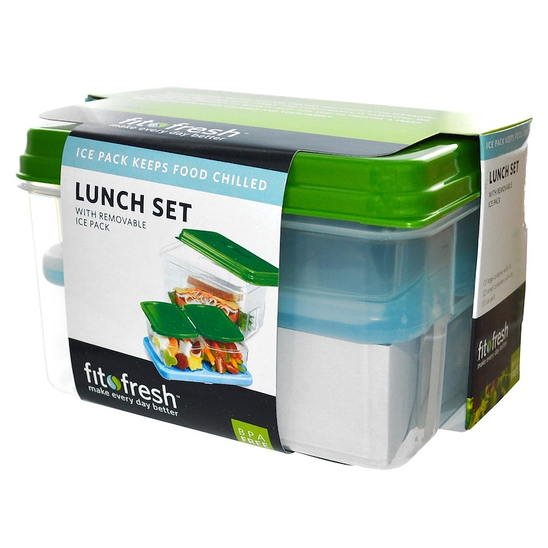 Lunch Set, with Removable Ice Pack, 7 Piece Set